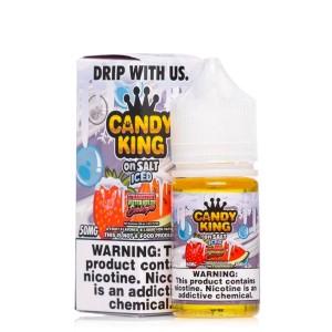 Candy King Salt   Strawberry Watermelon Bubblegum ICED (30ml)